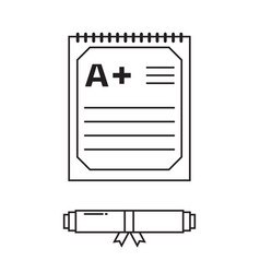 Diploma certificate icon vector