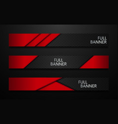 full banners set black and red vector image