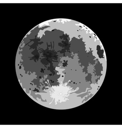 Full moon on a black background vector image vector image