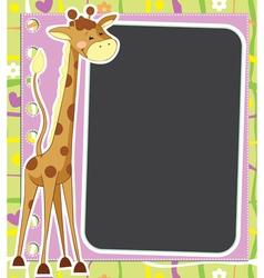 Fun framework with giraffe vector image vector image