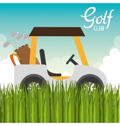 Golf club cart icon vector