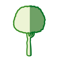 Green tree round plant silhouette vector