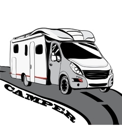 Hand drawn Doodle cars Recreational Vehicles vector image vector image