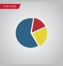 Isolated pie bar flat icon graph element vector