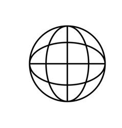 line network global connection digital map vector image
