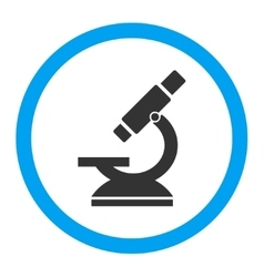 Microscope rounded icon vector