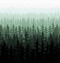 Nature forest landscape pine fir vector