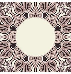 Oriental pattern in brown colors vector