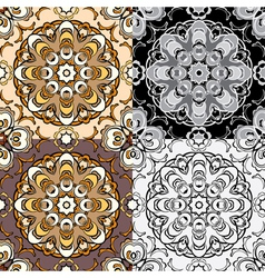 Ornament set 02 380 vector