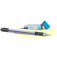 pencil and cutter vector image vector image