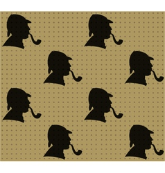 Sherlock holmes pattern vector