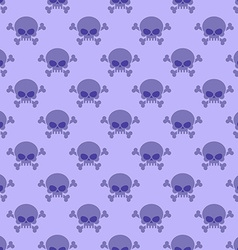 Skull with crossbones background Seamless purple vector image vector image