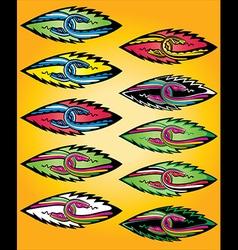 snake bodies symbol design vector image vector image