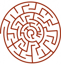 spiral labyrinth vector image