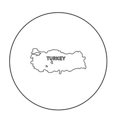Territory of turkey icon in outline style isolated vector