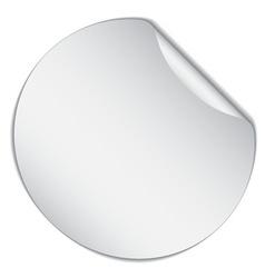 White bended sticker vector
