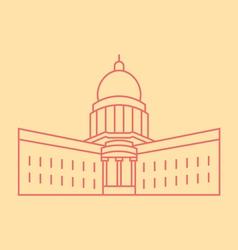 Wisconsin vector image