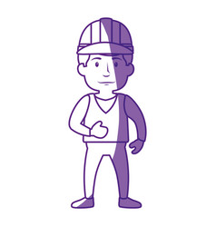 Worker man cartoon vector