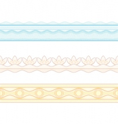 Guilloche borders pattern for currency vector