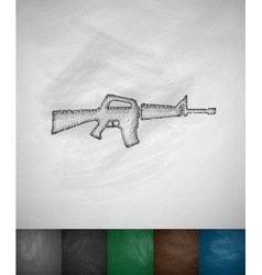Rifle icon vector