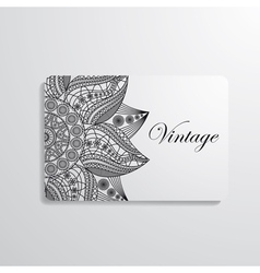 Visiting card vector