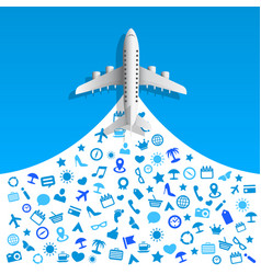travel icons services vector image