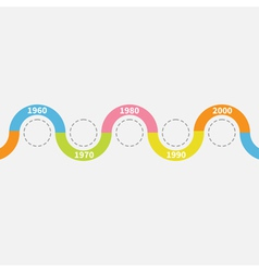 Timeline infographic with snail ribbon circles vector