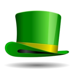 Green st patrick day hat vector