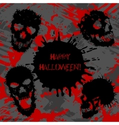 Scary invitation for halloween party vector