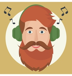 Hipster headphones vector