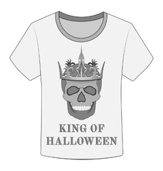 T-shirt king of halloween vector