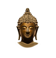 Head of buddha subdoing mara vector