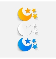 Realistic design element full moon vector