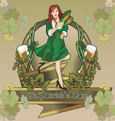 Stpatrick holiday vector