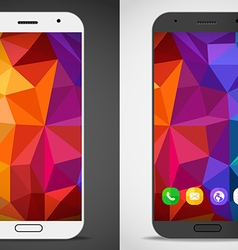 Modern smartphones with abstract mockup layout vector
