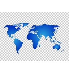 Blue map world map blank vector