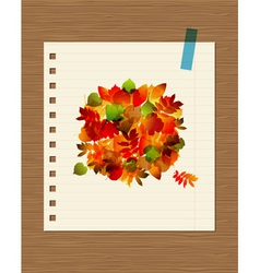 Autumn bouquet with leaf for your design vector