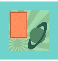 Flat icon on stylish background astronomy lesson vector