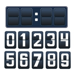 A countdown timer vector