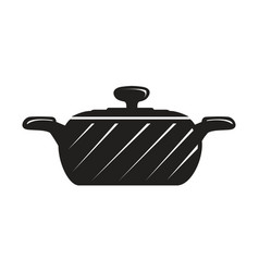 black cook pot vector image vector image