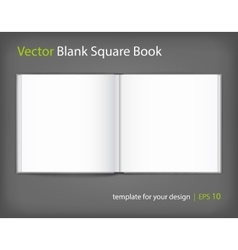 Blank of open square magazine on grey background vector