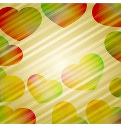 bright hearts vector image vector image