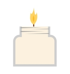 candle icon isolated vector image vector image