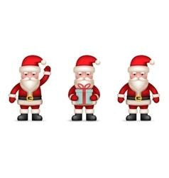 Cartoon Santa Claus Toy Character icons Set vector image