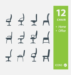 Chair icons vector image vector image