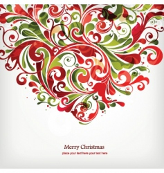 Christmas floral design vector image