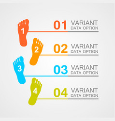 Foot prints info vector