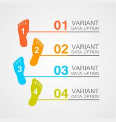 foot prints info vector image