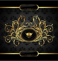 gold vintage for design packing - vector image vector image