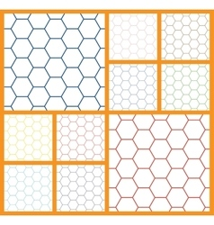 Hexagonal cell white background vector